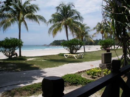 This is the view from  the chalet at Bintan island, Indonesia.