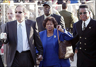 Katherine Jackson was the rock in Michael Jackson's life. Pic shows her at the 2005 trail with son Jermaine.