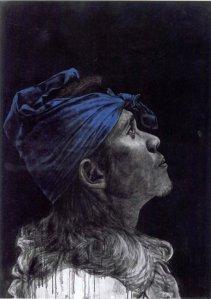 Bayu Utomo's portraits convey a complex narrative of identity.