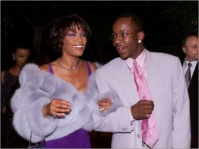 Whitney and Bobby...in happier times.