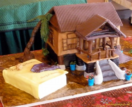 This amazing cake was made to replicate my book and my childhood home that was on the cover of my book (see sidebar).
